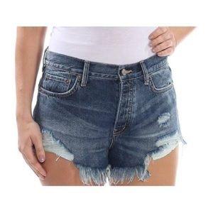 Free People Loving Good Vibrations Denim Shorts 24